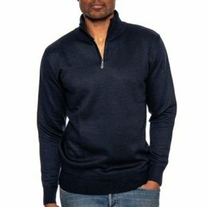Other - Men's Mock Neck 1/2 Zip Sweater  Navy